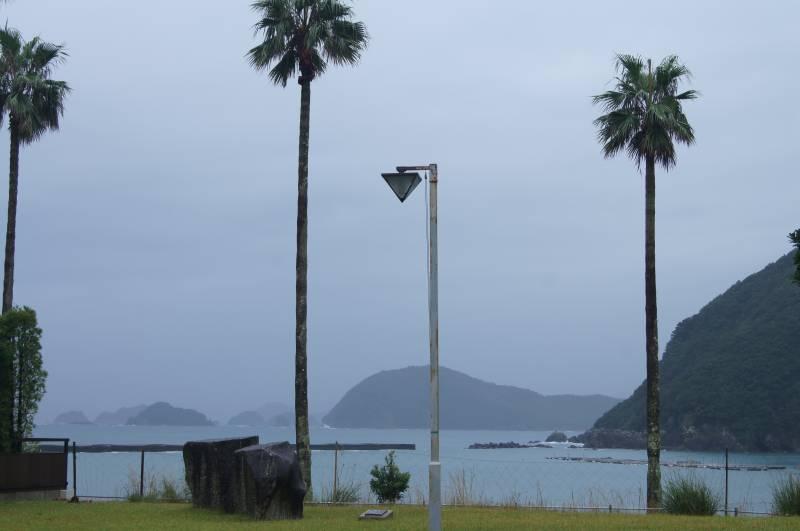 嵐の日の熊野灘(ホテル季の座より)