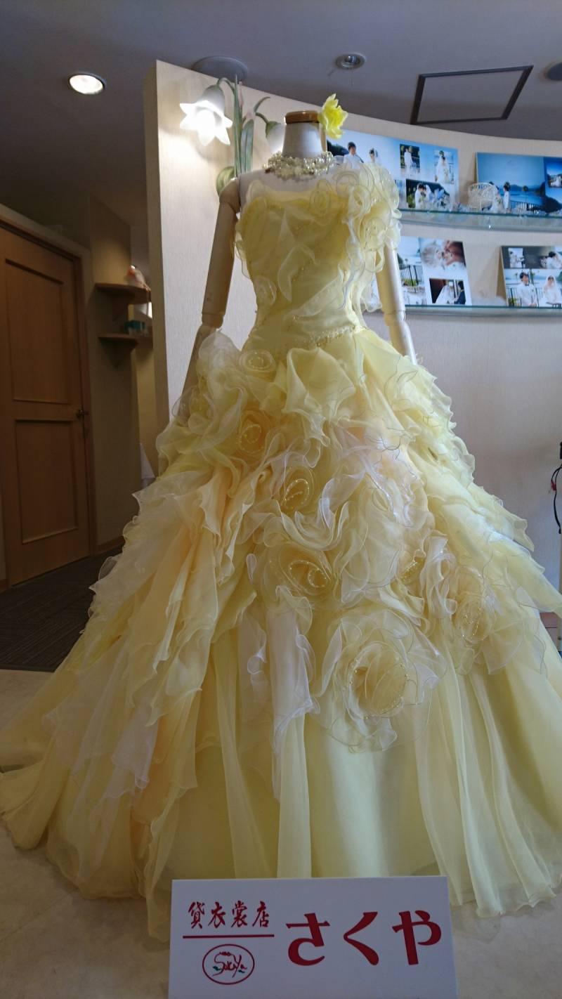 今月のドレスは春色。