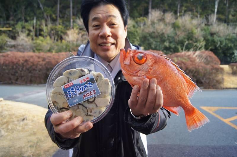 幻の牡蠣【渡利牡蠣】と【キントキダイ】ゲット!!