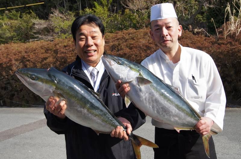 中西総料理長と長井さんもご機嫌