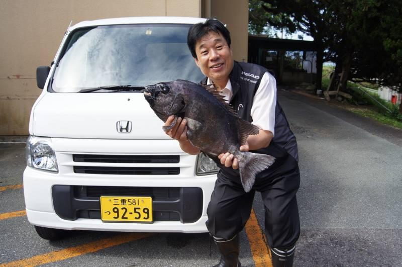 本日7/13【天然の石鯛】5㎏をBDの中西総料理長ゲットしてきました!!