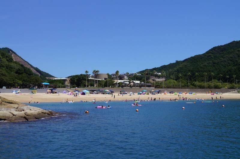 ※昨年の城ノ浜海水浴場の様子