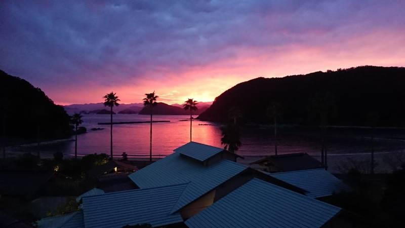 城ノ浜の夕焼け