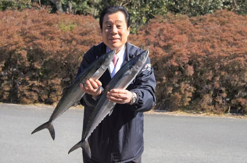 中西総料理長と釣り鰆