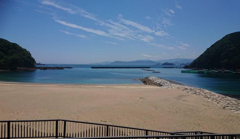 「ホテル季の座」から「城ノ浜海水浴場」の間から360度。