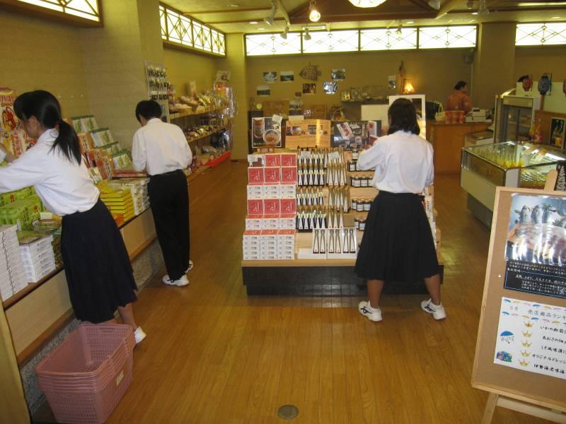 売店商品チェック&お掃除